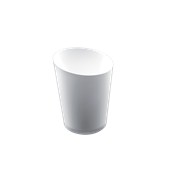 6023-11 Πλαστικό ποτηράκι - μπωλάκι FINGER FOOD PS 120cc λευκό