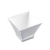 6100-11 Πλαστικό μπωλάκι - παγόδα PS 200cc, λευκό