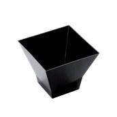 6100-19 Πλαστικό μπωλάκι - παγόδα PS 200cc, μαύρο