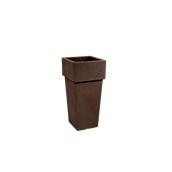 CH301-H00Q70-008 Γλάστρα πλαστική 32x32x70cm καφέ Rotational Ιταλίας
