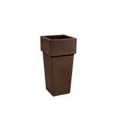 CH301-H00Q85-008 Γλάστρα πλαστική 40x40x85cm καφέ Rotational Ιταλίας