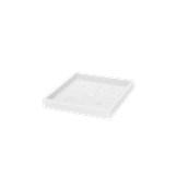 SV306-CM0040-000 Πιατάκι / βάση γλάστρας πλαστική 39x39x5cm λευκή Rotational Ιταλίας
