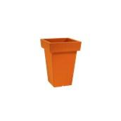 VA308-H00Q40-075 Κασπώ / Βάζο πλαστικό 30x30x40cm πορτοκαλί Rotational Ιταλίας