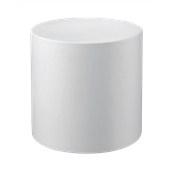 HF320-D0450-000 Έπιπλο διακοσμητικό πλαστικό πολλαπλών χρήσεων κυλινδρικό λευκό 45x45cm Ιταλίας