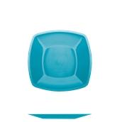 4052-33 Πιάτο γλυκού πλαστικό PP τετράγωνο 18x18cm τιρκουάζ πολυτελείας.