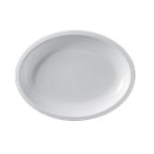 2754-11 Πιάτο πλαστικό οβάλ PP 25,5x19,5 cm λευκό.