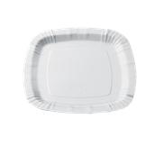205-00 Πιάτο Λευκό Χάρτινο Τετράγωνο 23,6cm, Ιταλίας