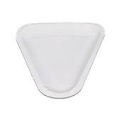 208-00 Πιάτο Λευκό Χάρτινο Τριγωνικό 23,9x26,2cm, Ιταλίας