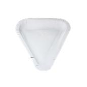 207-00 Πιάτο Λευκό Χάρτινο Τριγωνικό 20x26,5cm, Ιταλίας
