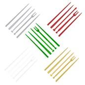 2705-401 Πλαστικό πηρουνάκι (στικ) PS 90mm για σνακ διάφορα χρώματα (1 χρώμα ανά συσκευασία)