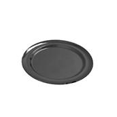 V1005-19 Δίσκος Πλαστικός Παρουσίασης φ27cm στρογγυλός PET, μαύρος