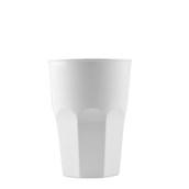 4076-11 Πλαστικό ποτήρι PP μίας ή πολλών χρήσεων 40cl λευκό