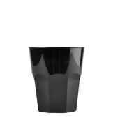 4075-19 Πλαστικό ποτήρι PP μίας ή πολλών χρήσεων 33cl μαύρο