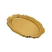V1004-02 Δίσκος Πλαστικός Πολυτελείας 46x31cm PET, χρυσός