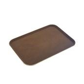 MFE-1418BR Δίσκος Σερβιρίσματος Fiberglass, Ορθογώνιος Αντιολισθητικός 46x35,5cm, Καφέ
