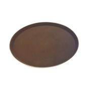 MFE-1100BR Δίσκος Σερβιρίσματος Fiberglass, Στρογγυλός Αντιολισθητικός Φ27,5cm, Καφέ