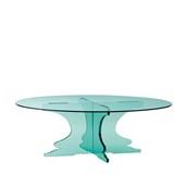U1230-10/R12-3010GL Βάση τούρταs Ακρυλικη, φ30 x Y10cm, διαφανές glass look, GARIBALDI