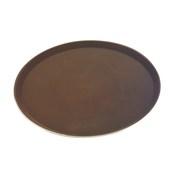 MFE-1400BR Δίσκος Σερβιρίσματος Fiberglass, Στρογγυλός Αντιολισθητικός Φ35,5cm, Καφέ
