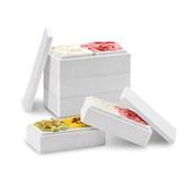 IMPILO-CORNICE-500gr Σκεύος Παγωτού για 500gr/750cc χωρίς καπάκι, λευκό, Ιταλίας