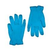 GVI-NB/L Σετ 100τεμ γάντια ΜΠΛΕ Βινυλίου χωρίς Λάτεξ, με πούδρα - LARGE