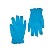 GVI-NB/M Σετ 100τεμ γάντια ΜΠΛΕ Βινυλίου χωρίς Λάτεξ, με πούδρα - MEDIUM