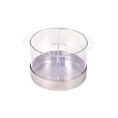 NS-013R Δοχείο για Μαρμελάδες 1,3 λίτρων, Ανοξείδωτη Βάση, Αφαιρούμενο  Διαχωριστικό και Καπάκι