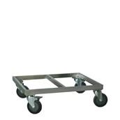 AVA-600x2 /TROLLEY Τρόλεϊ Μεταφοράς Ισοθερμικών Κουτιών, 60x70x22 cm, inox #304