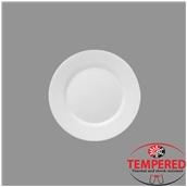 TOL-FP-20 Πιάτο Οπαλίνης Ρηχό 20 cm, Λευκό, Tempered, Σειρά Toledo, Bormioli Rocco