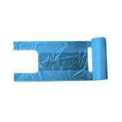 PSR/B-42/200 Ρολό 200 Σακούλεs / Τσάντες Φανελάκι (<15 μίκρο) 26+13 X 42cm Μπλε