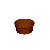 RD.R01 /BR Μπωλ Σουφλέ (Ramequin), Πορσελάνης Πυρίμαχο 20cl, Φ9x4,8 cm, Καφέ