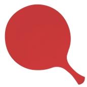 000.Π22/RD Κόκκινη Πλακα Κοπής Πίτσας Πολυαιθυλενίου  με χερούλι Φ32x1 cm