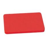 000.Π11/RD Κόκκινη Πλάκα Κοπής Πολυαιθυλενίου 60x40x1,5 cm