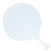 000.Π22/WH Άσπρη Πλακα Κοπής Πίτσας Πολυαιθυλενίου  με χερούλι Φ32x1 cm