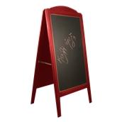 000.073/RD Ξύλινοs Πίνακαs Διπλόs Menu 152 x 77 cm Κόκκινο