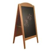 000.073/LT Ξύλινοs Πίνακαs Διπλόs Menu 152 x 77 cm Ανοιχτό Καφέ