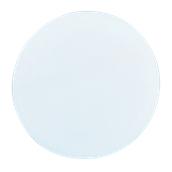 00Π.184/WH Άσπρη Πλακα Κοπής Πίτσας Πολυαιθυλενίου  στρογγυλή Φ35x2 cm