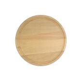 000.055 Ξύλινο Πιάτο με Λούκι Φ25 cm