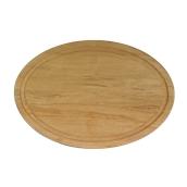000.062 Ξύλινο Πιάτο Οβάλ με Λούκι 35 cm