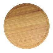 000.058 Ξύλινο Πιάτο με Λούκι Φ35 cm