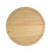 000.056 Ξύλινο Πιάτο με Λούκι Φ30 cm