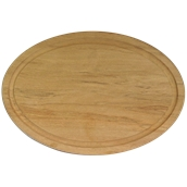000.166 Ξύλινο Πιάτο Οβάλ με Λούκι 40 cm