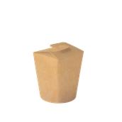 617-81 Χάρτινο Κύπελο Φαγητού που Κλείνει, χρώμα Kraft, Φ10,6x10,3 cm, Ιταλίας