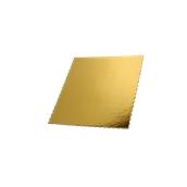 DM-25X25 Δίσκος-Βάση Τούρτας Χάρτινη Τετράγωνη 25x25cm σε χρυσό χρώμα, Ιταλίας (τιμή ανά κιλό)