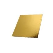 DM-30X30 Δίσκος-Βάση Τούρτας Χάρτινη Τετράγωνη  30x30cm σε χρυσό χρώμα, Ιταλίας (τιμή ανά κιλό)