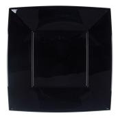 8056-19 Πιάτο φαγητού XL πλαστικό PP τετράγωνο 29x29cm μαύρο πολυτελείας.