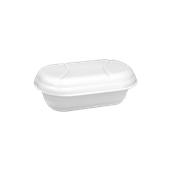 GEMAGEL-1000gr Σκεύος Παγωτού για 1000gr (L) με καπάκι, λευκό, Ιταλίας