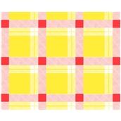 TC-KRAFT-Y/R Χάρτινο Τραπεζομάντηλο Kraft Καρώ Κίτρινο/Κόκκινο, 1x1m