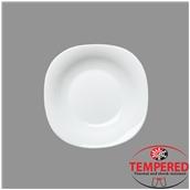 PRM-DP-23X23 Πιάτο Οπαλίνης Βαθύ 23x23 cm, Λευκό, Tempered, Σειρά Parma, Bormioli Rocco
