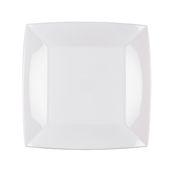 8050-11 Πιάτο φαγητού πλαστικό PP τετράγωνο 23x23cm λευκό πολυτελείας