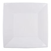 8056-11 Πιάτο φαγητού XL πλαστικό PP τετράγωνο 29x29cm λευκό πολυτελείας.